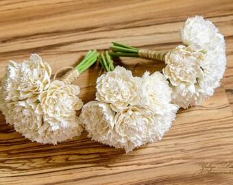 Bridesmaids Bridal bouquet Clay Wedding bouquet Hand Alternative bouquet Clay bouquet Wedding flowers