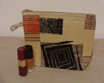 Makeup Bag Small Fabric Gadget Handmade Gift Case Zippered Pouch Cosmetics Purse Makeup Organiser Toiletry Bag Travel Accessory