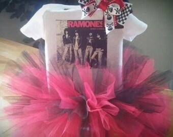 The Ramones inspired Punk Princess tutu outfit