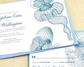 Jellyfish Wedding Invitations for your Aquarium or Beach Wedding