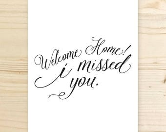 Welcome Home Printable Poster, Digital File, 8.5x11 inches