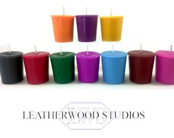 Wax Play Candles Soy Scentless Low Melt Point  4 Votive Gift Set