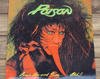 Poison - Open Up And Say....Ahh! - (1988) - Vinyl Album - Banned Cover
