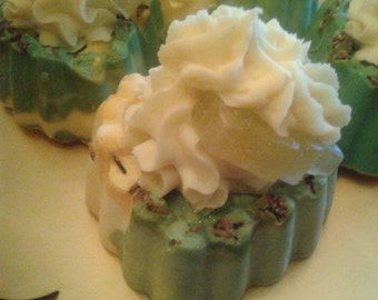 Homemade Soap Cupcakes - Late Spring