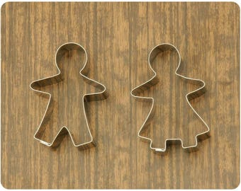 Gingerbread Woman and Man Cookie Cutters set
