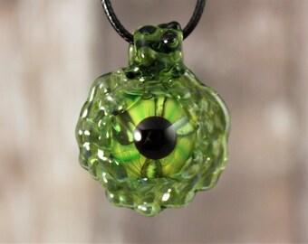 Dragon Eye Pendant, Dragon Necklace, Dragon's Eye, Heady Glass Pendant, Handmade Glass Pendant, Heady Glass, Glass Eye, Glass Eye Necklace