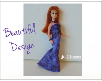 Dawn Doll Clothes - BEAUTIFUL DESIGN Gown and Jewelry Set - Custom Fashion by dolls4emma