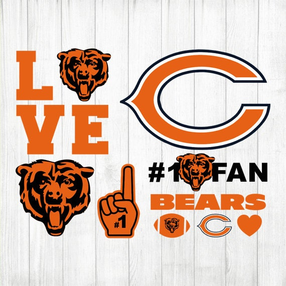 instant download chicago bears chicago bears clipart rh etsy com Chicago Bears Cartoons chicago bears football clipart