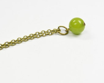 Necklace Marble green
