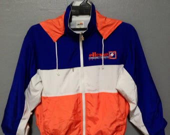 Rare!! Vintage Ellesse Windbreaker/Jacket/zipper/Hoodie/Sweater Nice Colour Small Size jMmAOwuK