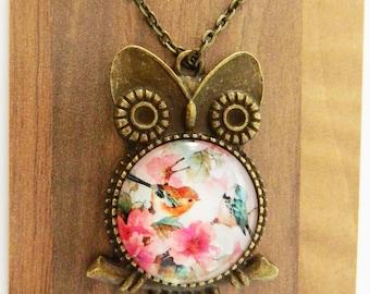 Owl of Birds Necklace