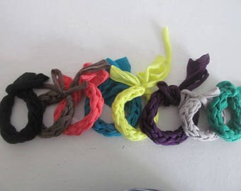 Lovely bracelet in braided jersey #2 collection