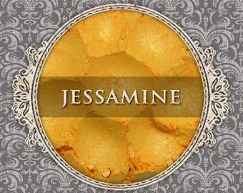 JESSAMINE Shimmer Eye Shadow, Golden Yellow, Orange Duochrome Highlight, Loose Powder Eyeshadow, VEGAN Cosmetics, Ships Out in 5-8 Days