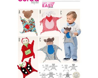 Burda Style Sewing Pattern 6624  Babies Cuddle Buddy, Cuddle Cloth Toy, New Uncut