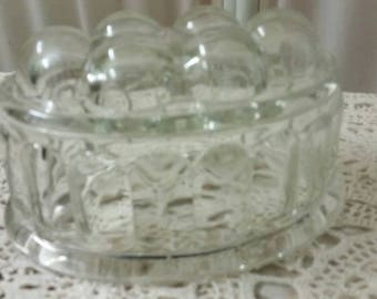 Vintage 1920s Glass Jelly Mould Cookware Kitchen Glass