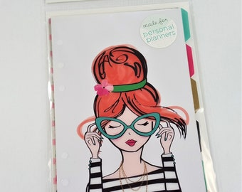 Girly W/Foil Clear Tabbed Dividers Personal Planner Agenda 52 by Paper Studio