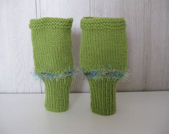 hand knitted wool mittens