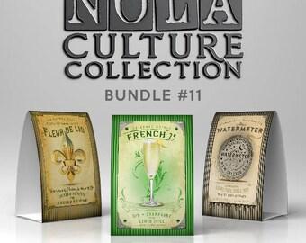 New Orleans Culture Bundle #11 Fleur de Lis, French 75 & Water Meter