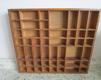 "Wooden What Not Shelf for Displays, Large 18 x 20"" Collage, Crafts, Collectibles"