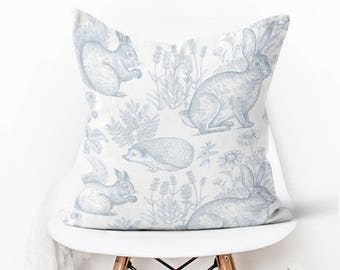 Pillow Cover Easter Decor Woodland In Slate