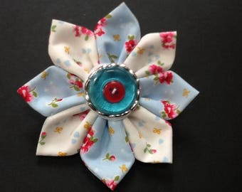 Handmade Cath Kidston fabric flower brooch,pin,corsage fashion for coat,hat,bag,scarf