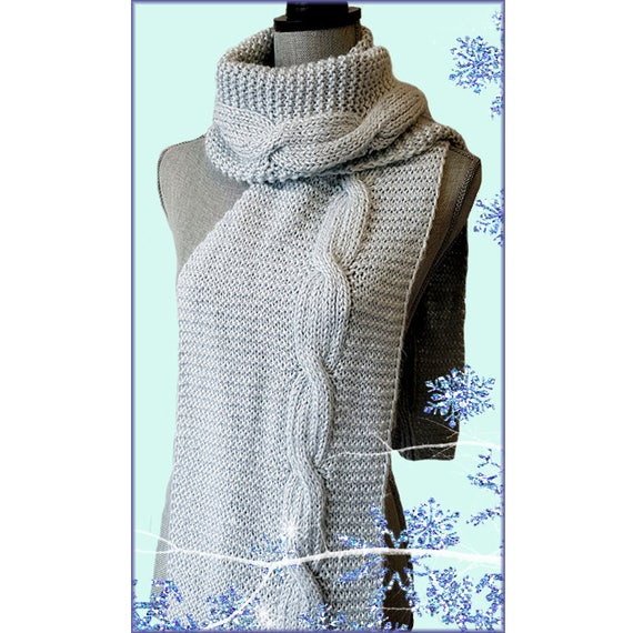 Beginners Pattern Easy Cable Scarf Pdf Knitting Pattern