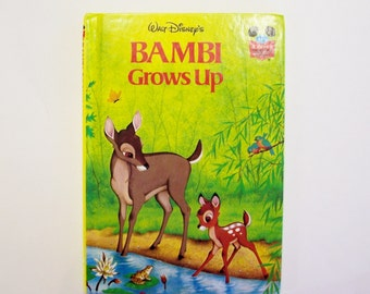 "Disney's ""Bambi Grows Up"" Hardbound book from Disney's Wonderful World of Reading, Children's Book, Disney Book, Bambi Book"