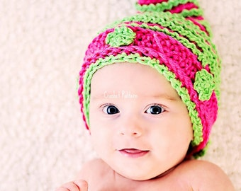 whimsical baby cocoon and hat set crochet pattern PDF 419