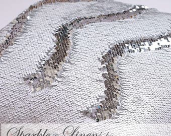 Reversible Sequin Fabric by the Yard, Mermaid Sequin Fabric , Flip Sequins  LARGEST COLOR SELECTION