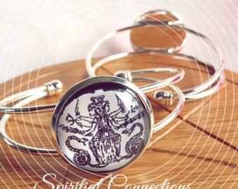 Goddess Hecate, triple goddess, Hekate handmade bangle, Greek  goddess, dedication jewellery, pagan jewelry, witch jewellery