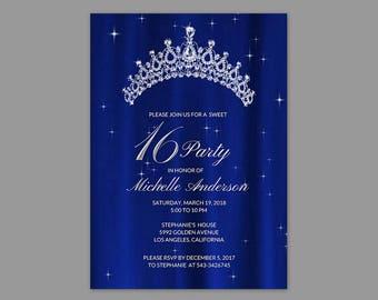 Sweet 16 invitations Etsy
