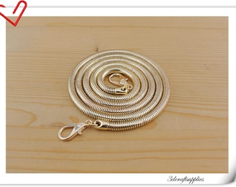 106cm gold chain purse chain strap bag chain snake chain make from copper P58