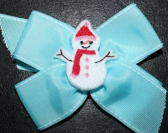 Snowman Feltie Machine Embroidery Design Files: Mommy's Apron Strings Easy, Cute for Girls, Babies - Winter, Christmas, Felt Clippies