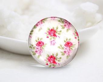 10mm 12mm 14mm 16mm 18mm 20mm 25mm 30mm Handmade  Photo Glass Cabochons Cover-Flower (P1057)