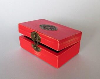 Jewelry Box Ladies Gift Box Jewelry Storage For her Wooden Box Wooden Keepsake box  jewelry box Distressed Finish