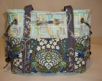 Tote Bag Diaper Bag, Valori Wells fabric