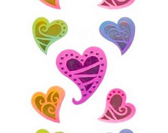 Hearts Sandylion 16.5 x 5 cm creative cardmaking scrapbooking stickers