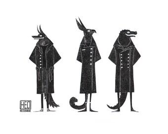 Gods Noir Print