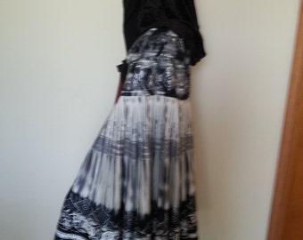 Grey/black Hooded Cloak 125718