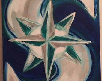 Seattle Mariners Logo Abstract Painting