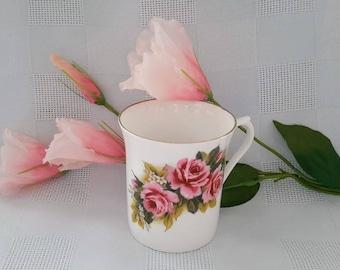 Royal Minster Coffee Mug, Pink Roses, Made in England
