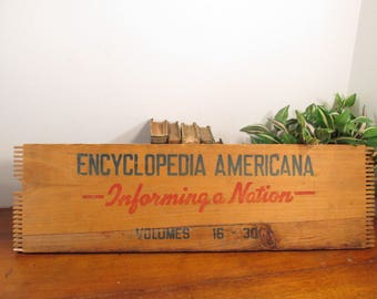 Wooden Crate Panel Encyclopedia Americana
