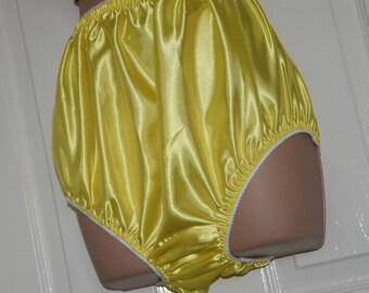 "EE 28 - Soft satin big silky panties, lovely silky everyday sissy wear, to 38"" waist,  Sissy Lingerie"