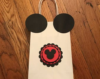 Mickey Mouse gift bag / party favor bag