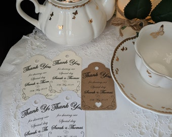 Wedding Thank You Cards - Wedding Favours x25