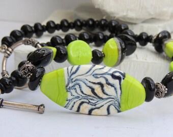 ZIME LEBRA Handmade Lampwork Bead Necklace