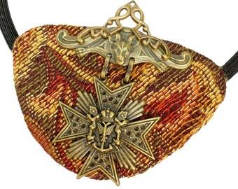 Eye Patch Woven Medallion Victorian Steampunk Gothic Pirate Fantasy Fortune Teller