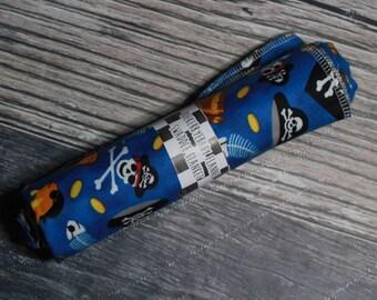 RockerByeBasics Large Newborn baby Swaddle Blanket 36x42 Pirate Royal Blue