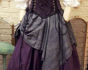 Purple Renaissance Corset Dress Witch Wench custom Gown costume