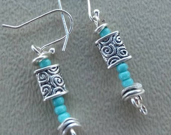 Ode to Tucson Turquoise & Silver Earrings